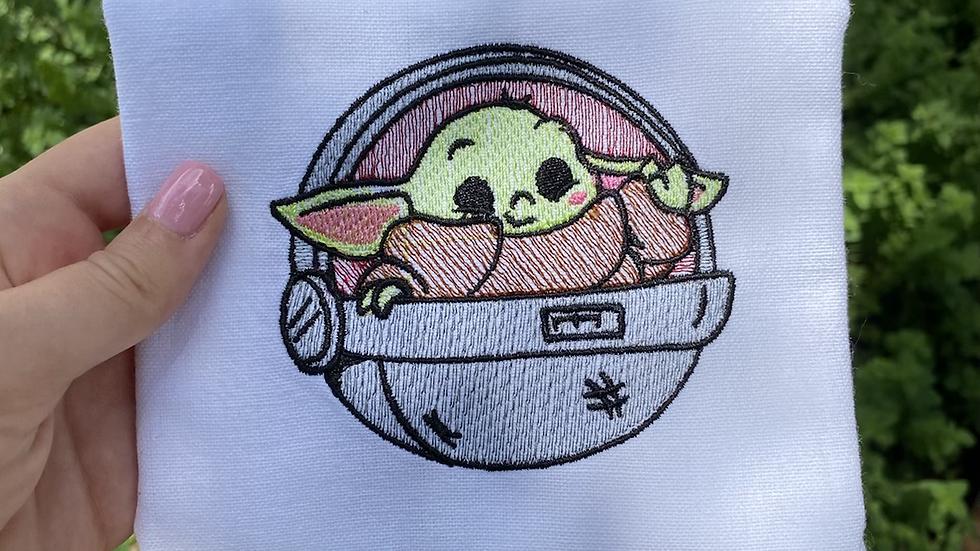 Baby Yoda Tea Towel