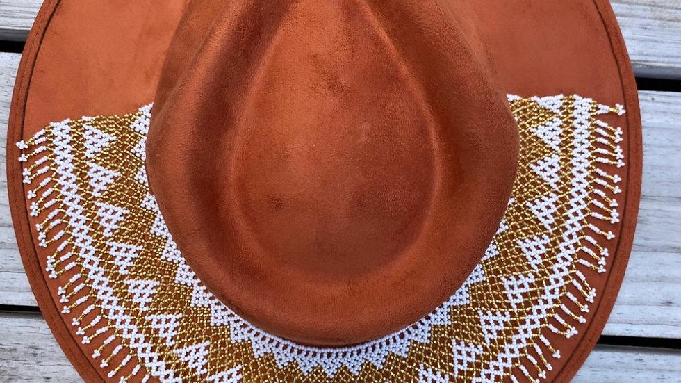 Hand Beaded Rancher Hat