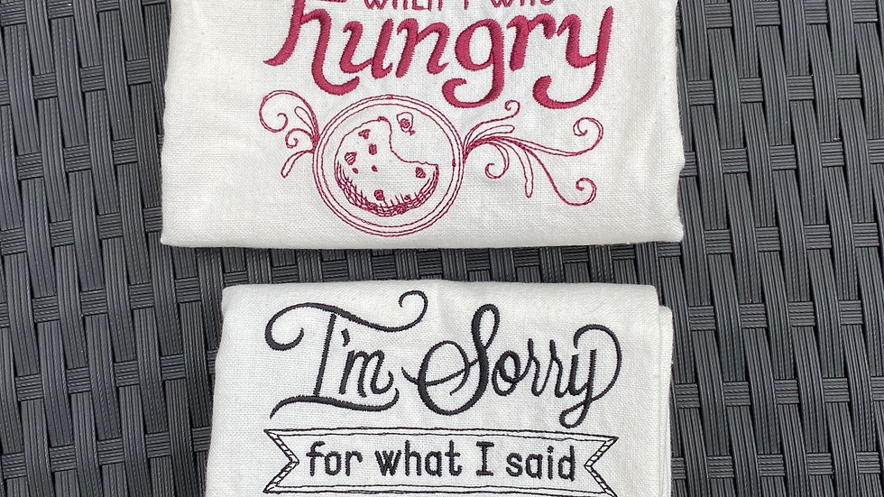 Hangry Tea Towel