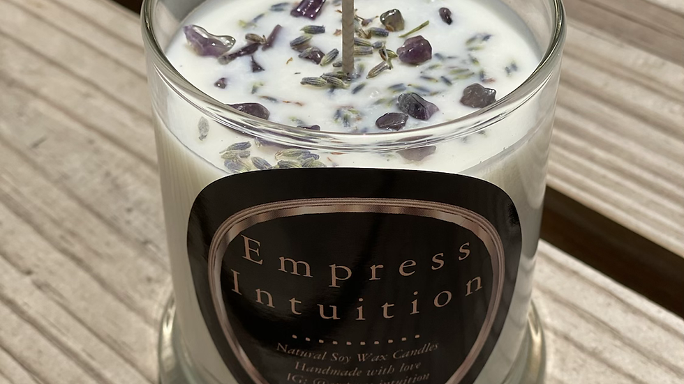 Crystal Infused Energy Candle | Lavender
