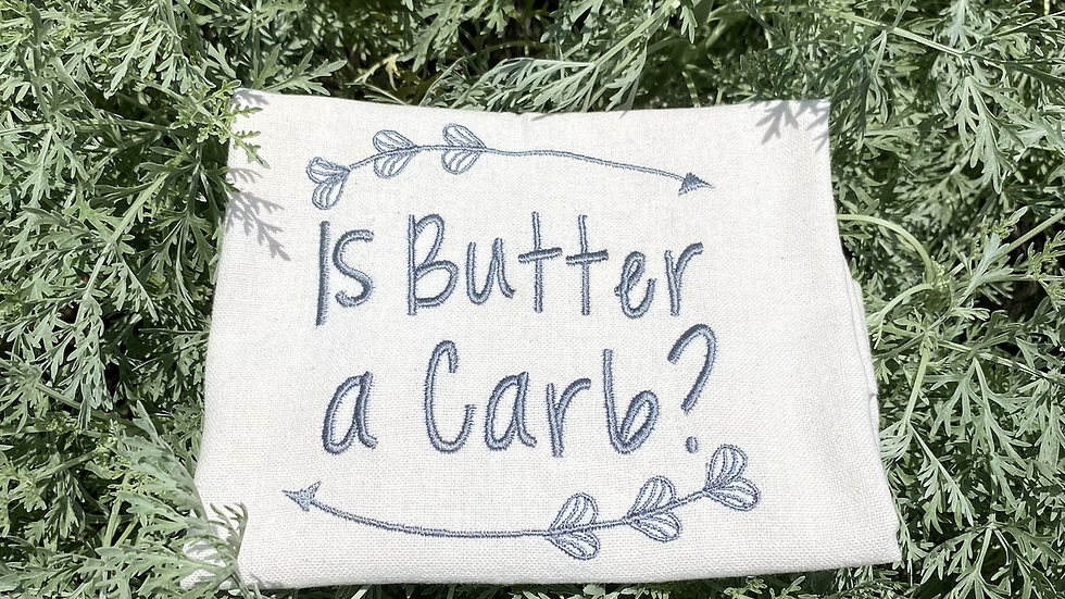 Is Butter A Carb? Tea towel