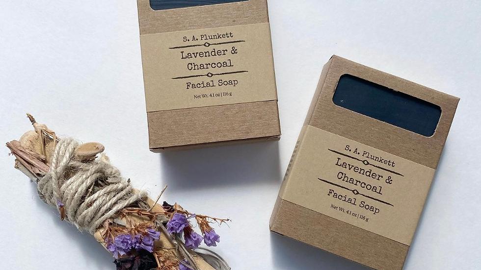 Lavender & Charcoal Facial Soap