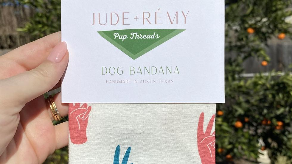 Peace Pet Bandana