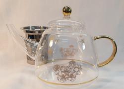 Honey Bee Teapot and Strainer