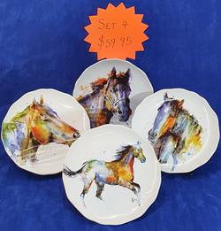 Horses plate set 4