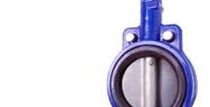 Затвор дисковый поворотный межфланцевый чугунный Ду 300 Ру 16