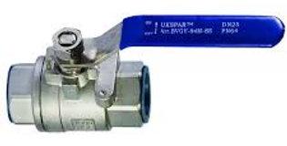 Кран шаровой двухсоставной муфтовый нержавеющий, Ду 20 / шар-нж сталь 316 / PTFE