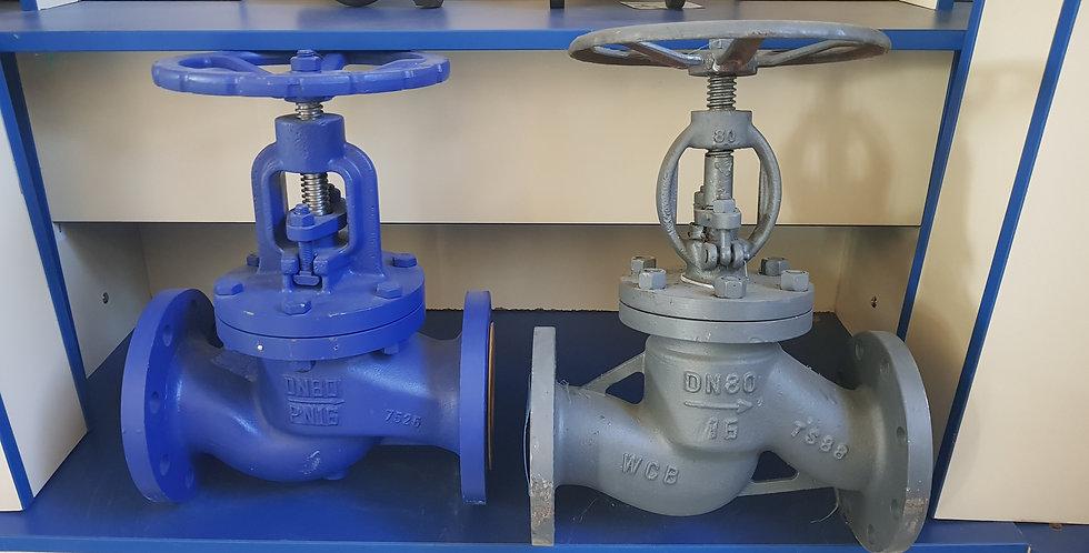 Вентиль (клапан) фланцевый чугунный, Ду 80 / тарелка-нж сталь / Pу 16