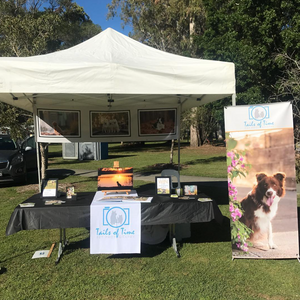 Tails of Time Pet Photography stall at DogFest. Held in Redlands, Brisbane.