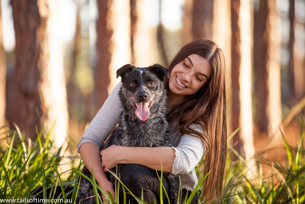 photo session with a girl and her dog at the Gold Coast. Gold Coat Pet Photography session by Tails of Time Pet Photography
