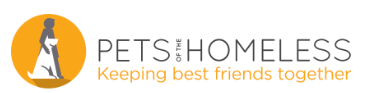 The logo for Pets of the Homeless. One of the partners for the pet photography project