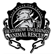 The logo for charity partner Deathrow Unchained
