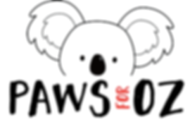 the logo fr the Paws for Oz Pet Photographers Collective