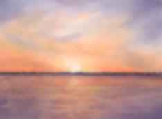 SunsetOverWaterKawarthasPaintingWeinholt