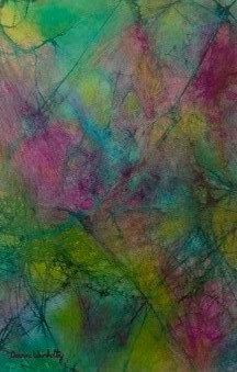 """Midnight Blossoms 14""""x 22"""" unframed"""
