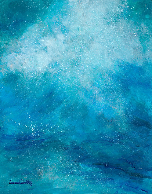 Paradise Inspiration Original Acrylic on Silverleaf