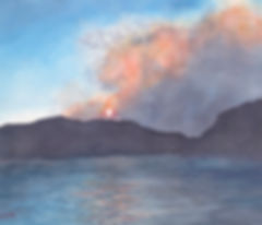 ColoradoWildfirePaintingAtSunsetWeinholt