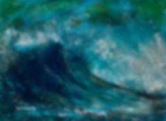 Wave Crashing Seascape Painting