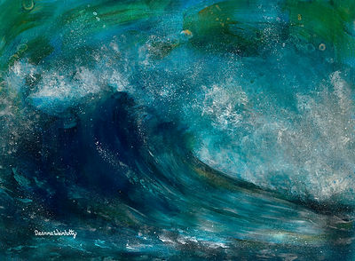 Wave Crashing Seascape Painting