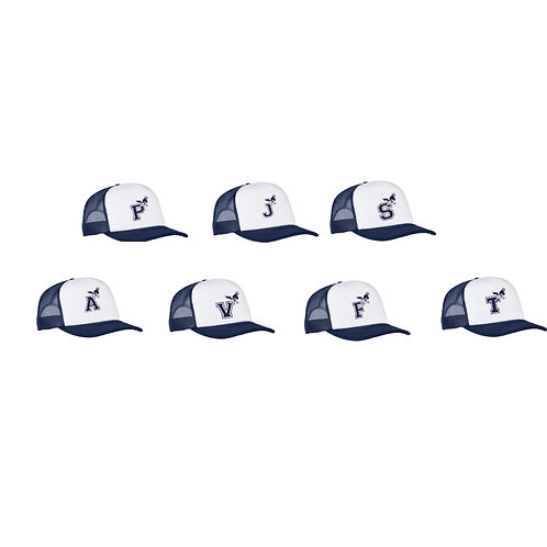 Navy & White Trucker Hat