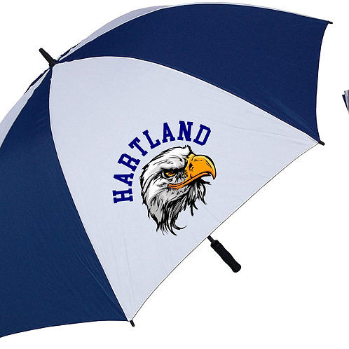 "68"" Navy & White Golf Umbrella"