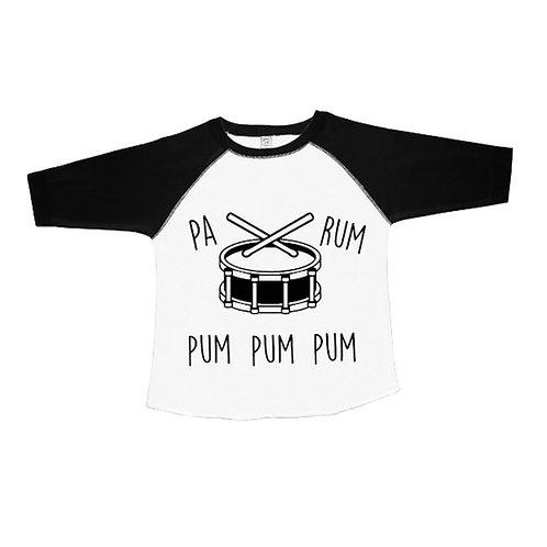 Little Drummer Boy Kid's Raglan