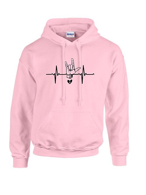 ASL I Love You Hoodie Pink
