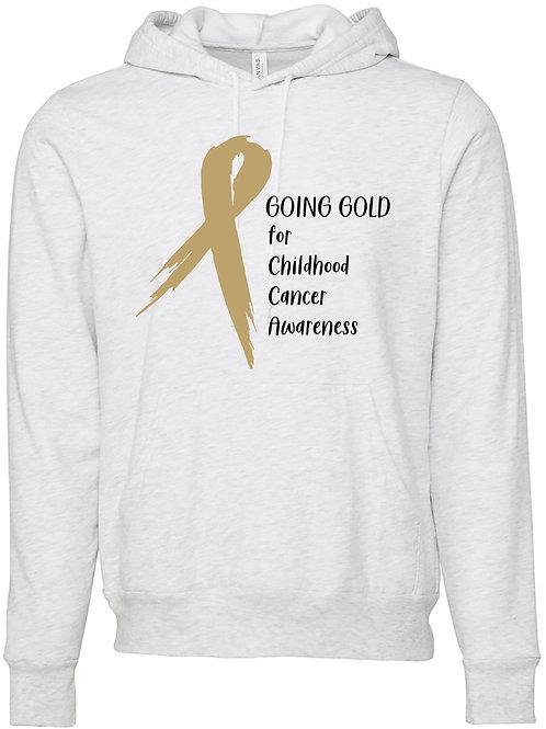 Go Gold Ash Grey Childhood Cancer Hoodie