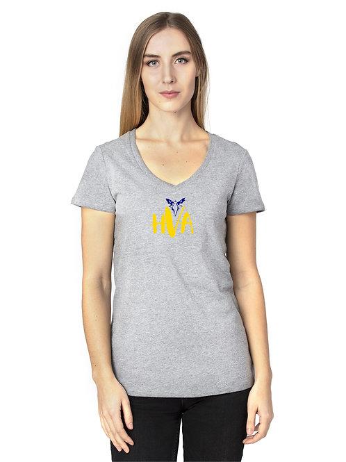 HVA Grey V-Neck LadiesTee
