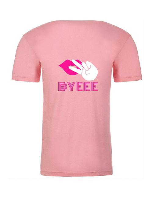 Byeee Short Sleeve Tee Pink