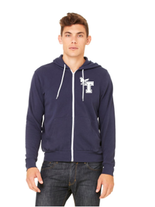 UNISEX POLY-COTTON FLEECE ZIP UP