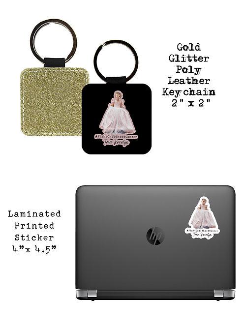 Jocelyn Keychain/Sticker Bundle