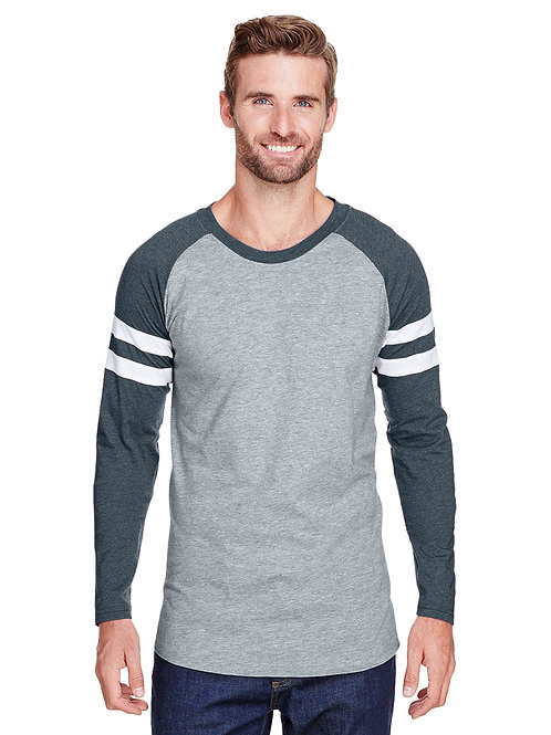 Men's Football Striped Sleeve Raglan
