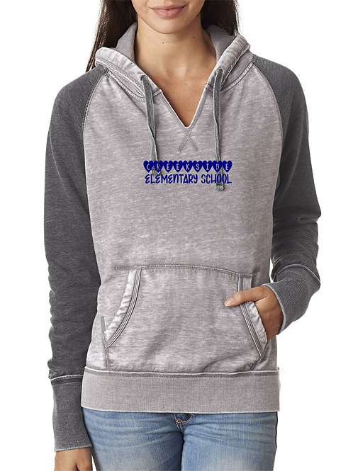 Creekside Ladies Grey Small V Neck Hood