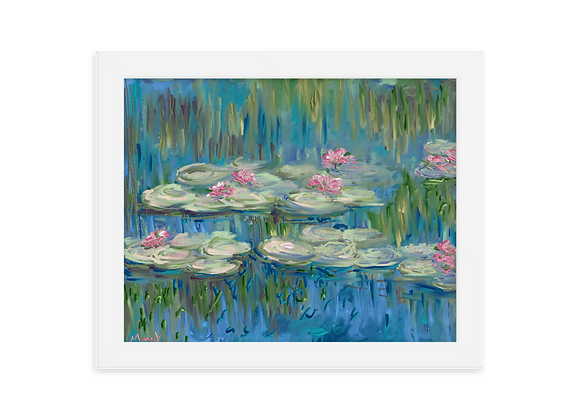 """Water Lily"" 00.4 Framed Poster"