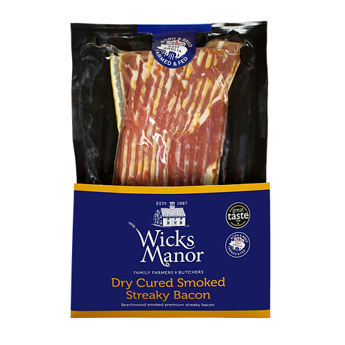 Bacon Streaky Smoked 200g Wicks Manor RETAIL CHILLED
