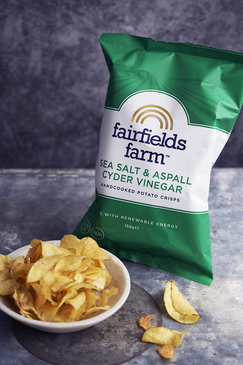 Fairfields Farm Crisps Sea salt & Aspall Cyder Vinegar 150g