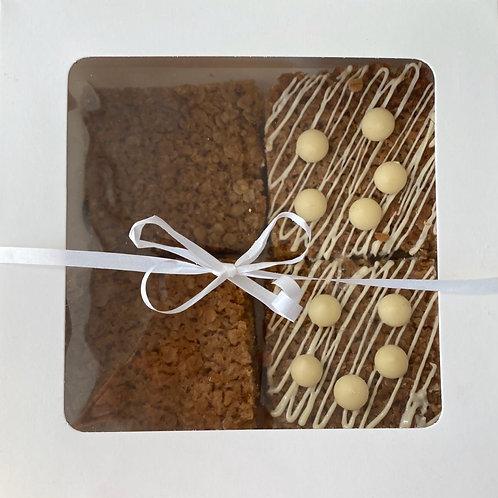 White chocolate & Sticky Golden flapjacks x4