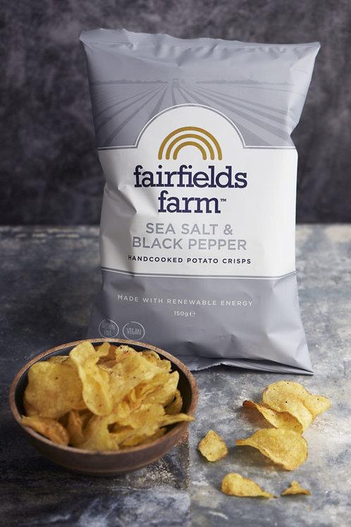 Fairfields Farm Crisps Sea Salt & Black Pepper 150g