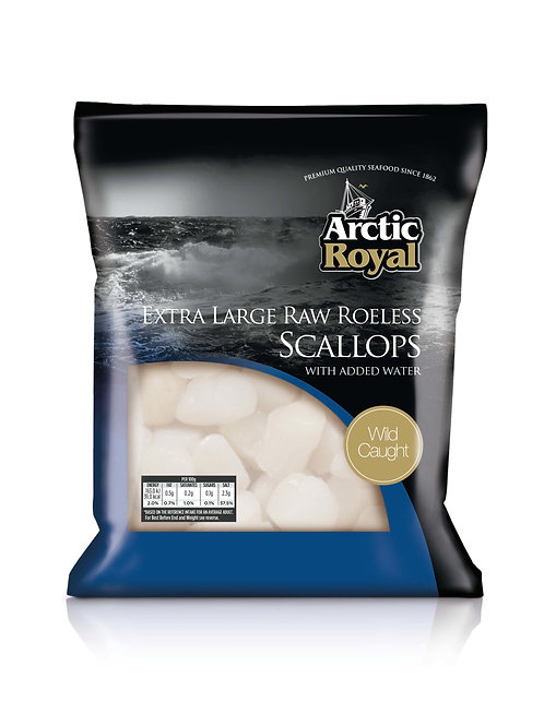 Arctic Royal Extra Large Roeless Scallops 700G