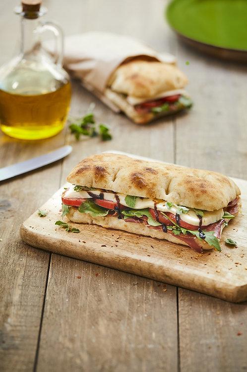 Romana focaccia Flat Bread White Pre-Sliced 4x100g