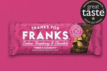 Frank's Gluten free Cashew, Raspberry & Chocolate Granola Bars 15 x 55g