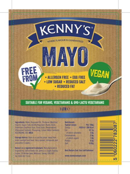Mayonaise VEGAN Kenny's 1ltr