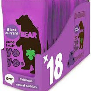 Blackcurrant Yoyo Fruit Rolls 18 x 20g