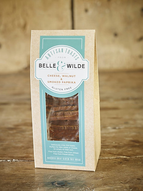 Belle & Wilde Artizan Toast Cheese, walnut & smoked pap 100g