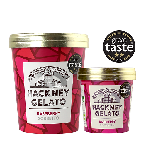 Hackney Gelato Raspberry Sorbetto 500ml
