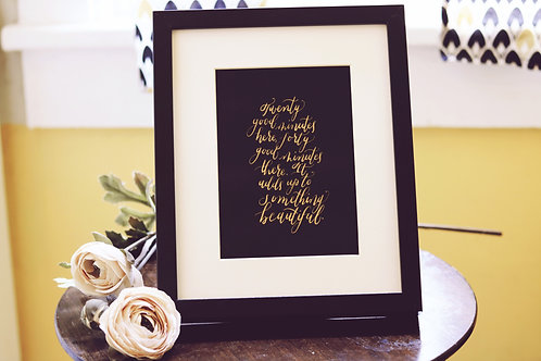 5 x 7 Custom Quote - UNFRAMED - SIMPLE