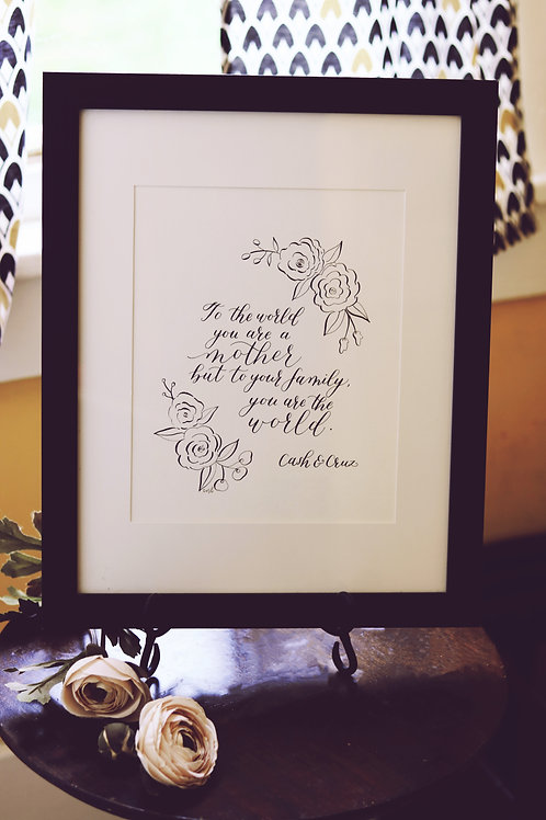8 x 10 Mother's Day quote - FRAMED