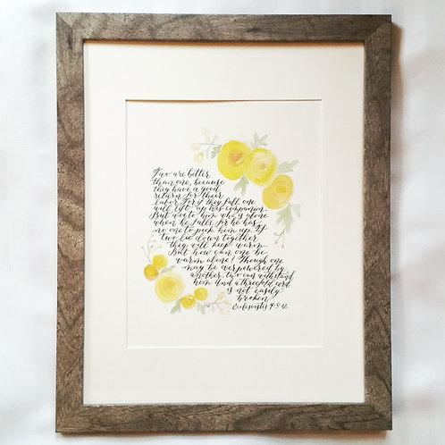 8 x 10 Custom Calligraphy (unframed)
