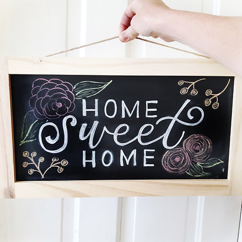 May 7th - Chalkboard Lettering and Florals - Ladies' Night